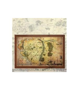 The Hobbit: map of middle...
