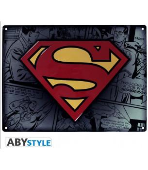 Superman: Logo Metal Tin Sign