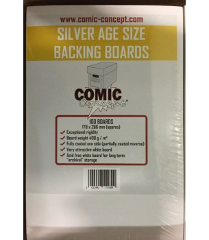 Silver Size Comic Backing...