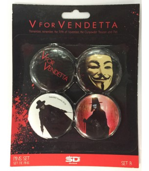 V For Vendetta: Button Pin Set